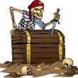 Stock Vector: Skeleton pirate