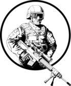 Sniper — Vetorial Stock