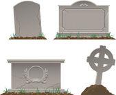 Pietre tombali — Vettoriale Stock