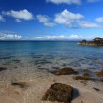Scottish highland beach — Stock Photo