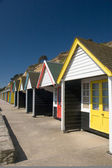 Bournemouth Beach Huts — Stock Photo