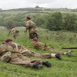 British troops in battle — Stock Photo