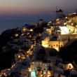Oia at night — Stock Photo