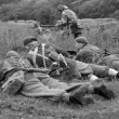 Stok fotoğraf: British troops in battle