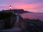 Sunrise at Sidmouth — Stock Photo