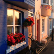 Traditional seaside terraced house - Stock Photo