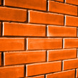 Tinted brick wall - Stock Photo