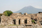 Pompeii & Vesuvius — Stock Photo