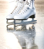 Dramatic natural portrait shot of ice skates — Stock Photo