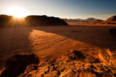 Sunrise in Wadi Rum — Stock Photo