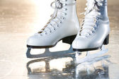 Dramatic landscape natural shot of ice skates — Stock Photo