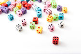 Static Dices - Straight Top View — Stock Photo
