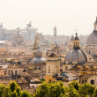 Stock Photo: Rome overview with monument and several domes
