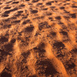 Wadi Rum - Red Sand Detail — Stock Photo