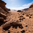 Stock Photo: Stones in Wadi Rum desert, Jordan.