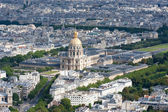 Les Invalides aerial view — Stock Photo