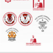 Templates of logos for Buddhist organizations - Stock Vector