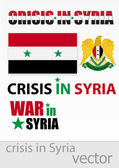 The crisis and the war in Syria — Stock Vector