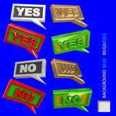 Quotation YES NO for web? poligraphics design — Stock Photo