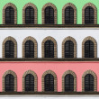 Stock Photo: Italifacade windows