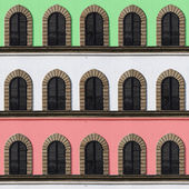Italian facade windows — Stock Photo