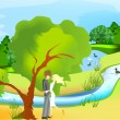 Dating the tree — Imagen vectorial