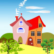 Fairytale cottages — Stock Vector #11383699