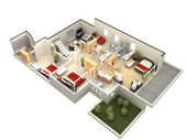3d floor plan — Stock Photo
