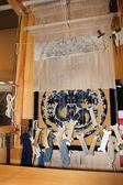 Beijing flavour traditional handicraft--carpet Traditional production process — Stock Photo