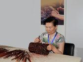 Beijing red sandalwood wood carvings — Stock Photo