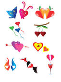 Various hearts. — Stock Vector