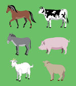 Agricultural animals — Stock Vector