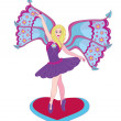 The beautiful fairy the ballerina. — Vector de stock