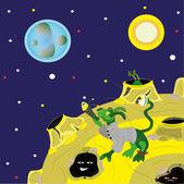 Aufsicht vom Mond. — Stockvektor