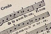 Antica partitura di musica religiosa — Foto Stock