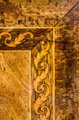 Detail of old marquetry furniture — Stockfoto