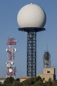 Telecommunications towers — Stockfoto