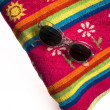 Stock Photo: Towel and sun glasses