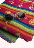 Towel and sun — Stockfoto