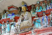 Buddhist Rock carving — Stock Photo