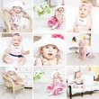 Baby collage — Stock Photo