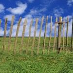 Fence pasture — Stock Photo