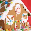 Christmas gingerbread house — 图库照片