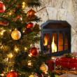 Royalty-Free Stock Photo: Christmas tree and fireplace