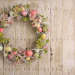 Foto Stock: Easter egg wreath