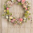 Easter egg wreath — Stock Photo