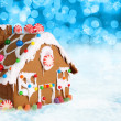 Royalty-Free Stock Photo: Christmas gingerbread house.