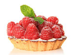 Raspberry fruit tart — Stock Photo