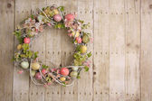 Easter egg wreath — Photo