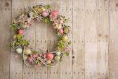 Easter egg wreath — Стоковое фото